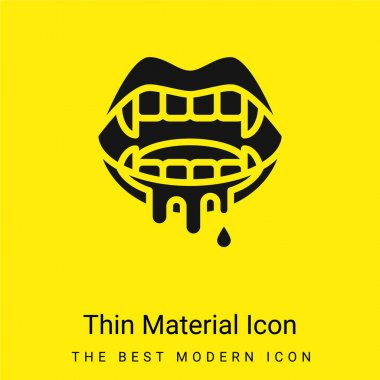 Bloody minimal bright yellow material icon stock vector