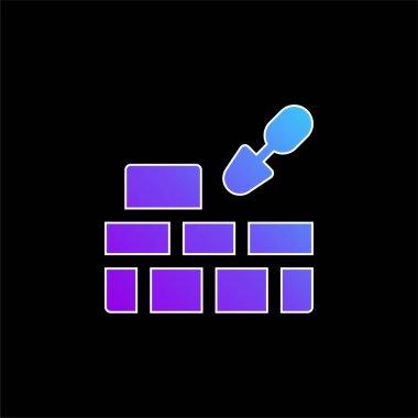 Brick Wall blue gradient vector icon stock vector