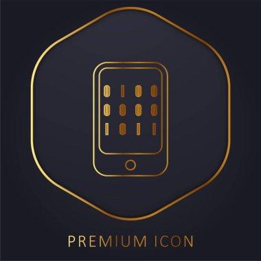 Bir Bilgisayar altın çizgisi prim logosunun ikili verisi veya simgesi