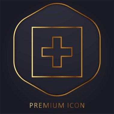 Addthis golden line premium logo or icon stock vector