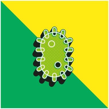 Bacteria Green and yellow modern 3d vector icon logo stock vector