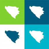 Bosna a Hercegovina Byt čtyři barvy minimální ikona sada