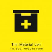 Koupelna První pomoc Kit Box minimální jasně žlutý materiál ikona