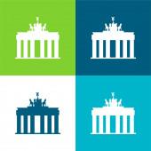 Brandenburger Tor Flache vier Farben minimales Symbol-Set