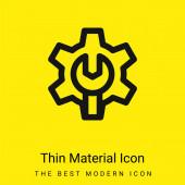 Správce minimální jasně žlutý materiál ikona