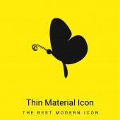 Black Butterfly Side View minimální jasně žlutá ikona materiálu