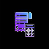 Vektorová ikona Billa blue gradient