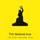 Bayern-Statue minimal leuchtend gelbes Materialsymbol