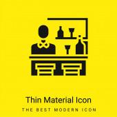 Bár minimális világos sárga anyag ikon