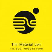 Csillagászat minimális fényes sárga anyag ikon