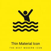 Pláž minimální jasně žlutý materiál ikona