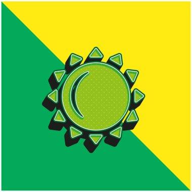 Big Sun Green and yellow modern 3d vector icon logo stock vector