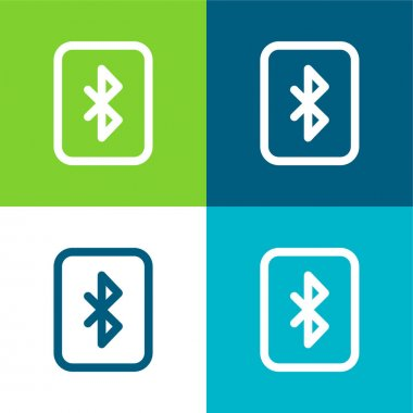 Bluetooth Flat four color minimal icon set stock vector
