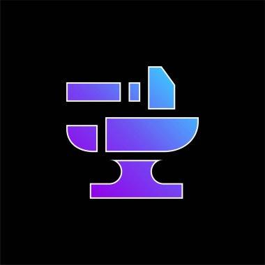 Anvil blue gradient vector icon stock vector