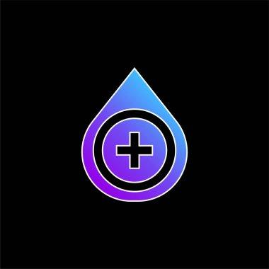 Blood Type blue gradient vector icon stock vector
