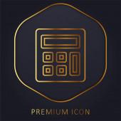 Účtování zlaté čáry prémie logo nebo ikona