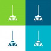 Bloom Flat čtyři barvy minimální ikona nastavena