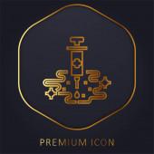 Allergie Shots goldene Linie Premium-Logo oder Symbol