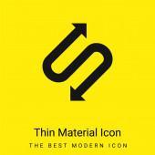 Šipka se dvěma body v tvaru S minimální jasně žlutá ikona materiálu