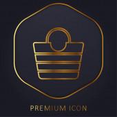 Zacskó arany vonal prémium logó vagy ikon