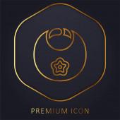 Bib zlatá čára prémie logo nebo ikona
