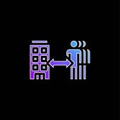 B2b kék gradiens vektor ikon