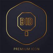 Ajánlati arany vonal prémium logó vagy ikon
