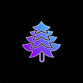 Big Pine Tree Shape kék gradiens vektor ikon