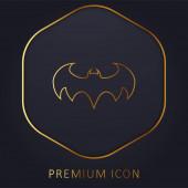 Batman Logo arany vonal prémium logó vagy ikon