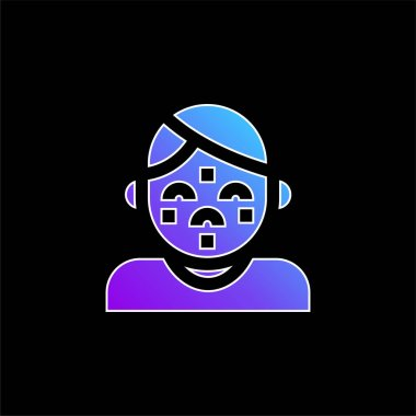 Acne blue gradient vector icon stock vector