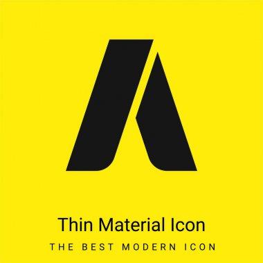 Adwords minimal bright yellow material icon