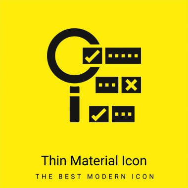 Boolean Search minimal bright yellow material icon stock vector
