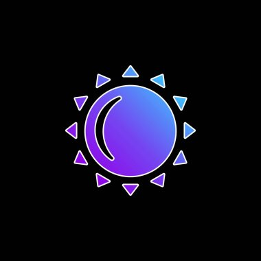 Big Sun blue gradient vector icon stock vector