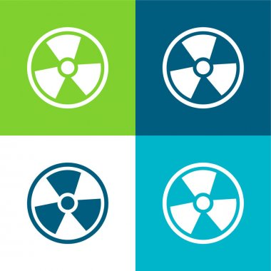 Alarm İmzası Düz 4 renk minimal simgesi seti
