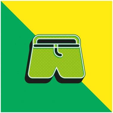 Boxers Green and yellow modern 3d vector icon logo stock vector