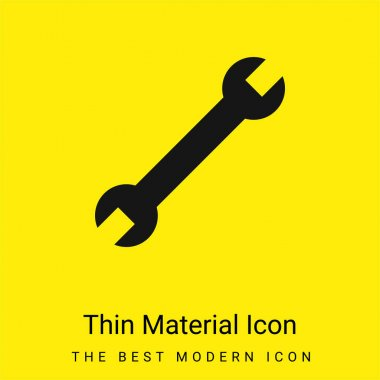 Adjustable Wrench minimal bright yellow material icon stock vector
