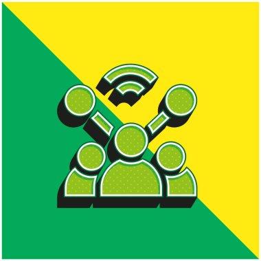 Account Green and yellow modern 3d vector icon logo stock vector