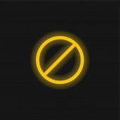 Zugang verweigert gelb leuchtendes Neon-Symbol