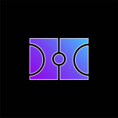 Kosárlabda kék gradiens vektor ikon