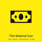 Big Paper Bill minimális fényes sárga anyag ikon