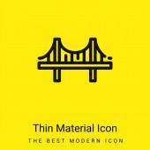 Bridge minimális fényes sárga anyag ikon