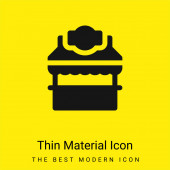 Booth minimal bright yellow material icon