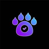Animals Allowed blue gradient vector icon