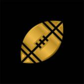 Americký fotbal pozlacené kovové ikony nebo logo vektor