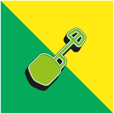 Big Shovel Green and yellow modern 3d vector icon logo stock vector