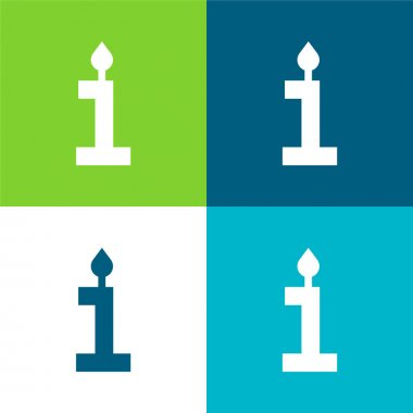 Birthday Flat four color minimal icon set stock vector