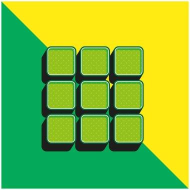Apps Green and yellow modern 3d vector icon logo stock vector