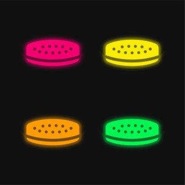 Balance four color glowing neon vector icon stock vector