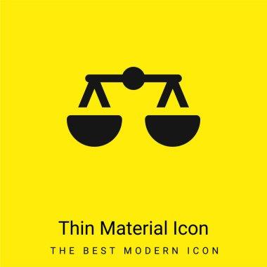 Balance minimal bright yellow material icon stock vector