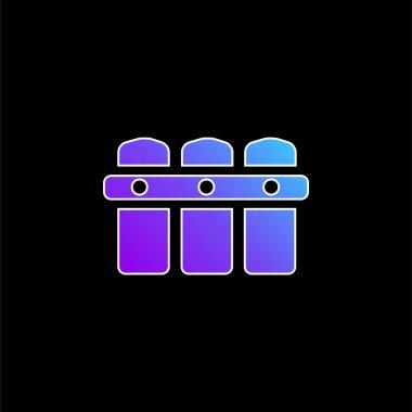 Black Fence blue gradient vector icon stock vector
